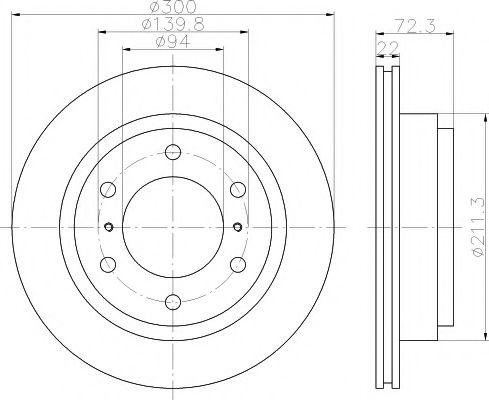 92135100 Тормозной диск TEXTAR PRO TEXTAR 92135103