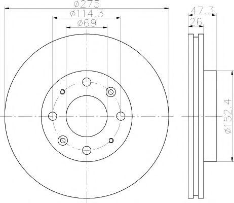 TEXTAR KIA Диск тормозной передн. Cerato 04- TEXTAR 92136700