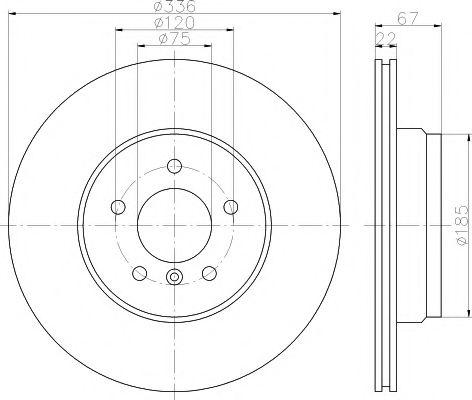 Тормозной диск TEXTAR PRO  арт. 92137903