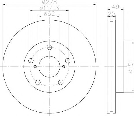 92139700 Тормозной диск TEXTAR PRO TEXTAR 92139703