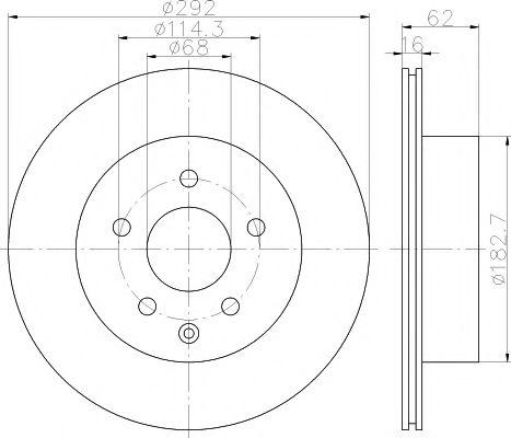 Тормозной диск  арт. 92144003