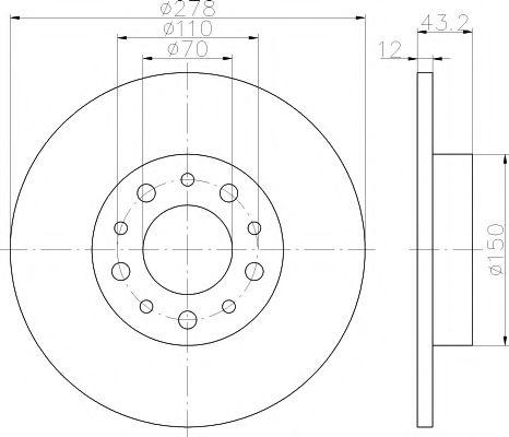 Тормозной диск  арт. 92145203