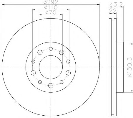 Тормозной диск  арт. 92145303
