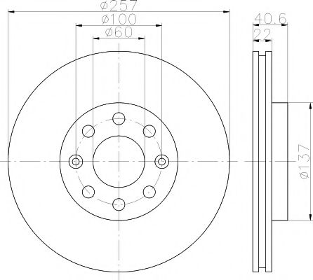 Тормозной диск TEXTAR арт. 92145703