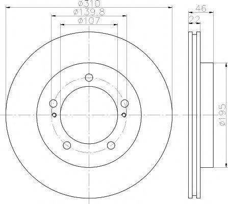TEXTAR  SUZUKI Диск тормозной передн.Vitara  -98 TEXTAR 92149000
