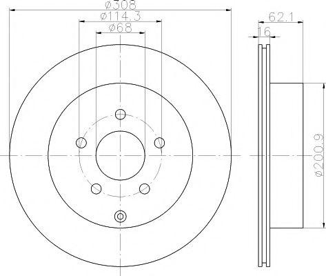 Тормозной диск TEXTAR  арт. 92149300