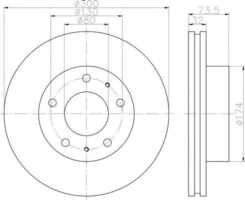 Фото - Тормозной диск TEXTAR - 92157303