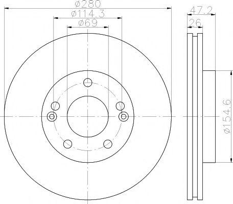 Тормозной диск TEXTAR  арт. 92161603