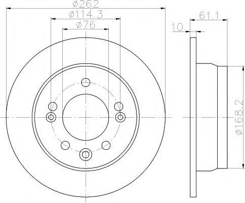 92161700 Тормозной диск TEXTAR TEXTAR 92161703