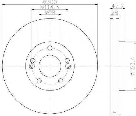 Тормозной диск TEXTAR  арт. 92166500
