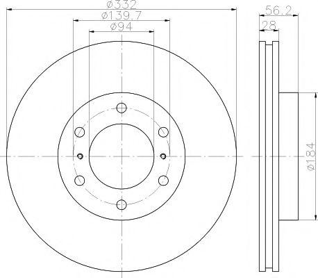 TEXTAR  Диск тормозной передн.Pajero IV 07- TEXTAR 92167203