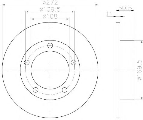 Тормозной диск  арт. 92019900