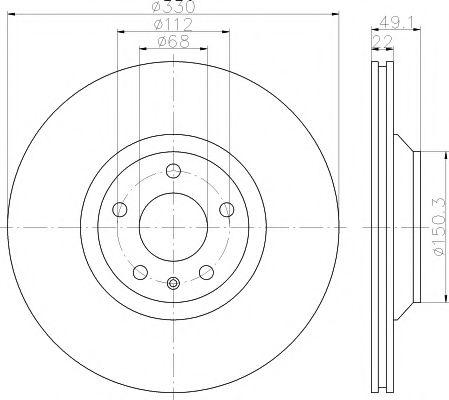 TEXTAR  AUDI Диск тормозной задний A6 04- TEXTAR 92132603