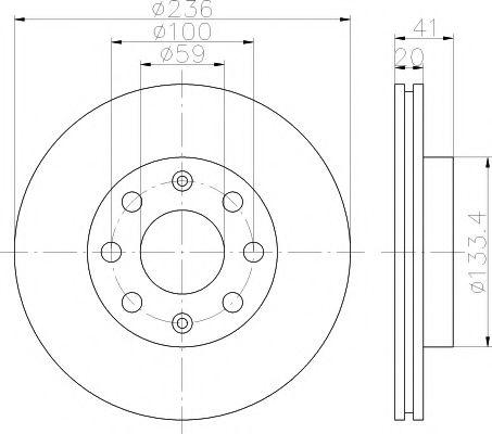 Тормозной диск передний LANOS/AVEO TEXTAR  арт. 92133400