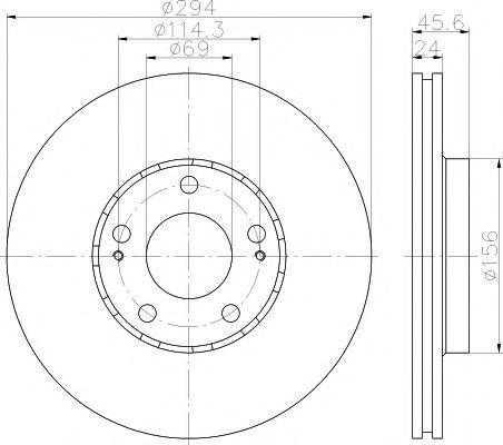 TEXTAR  Диск тормозной передн. MITSUBISHI Outlander  03- TEXTAR 92135203