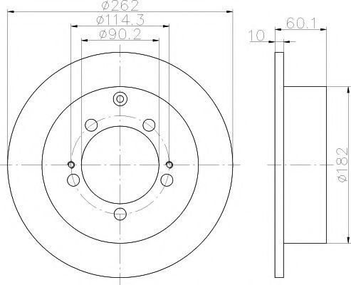 92136100 Тормозной диск TEXTAR PRO TEXTAR 92136103