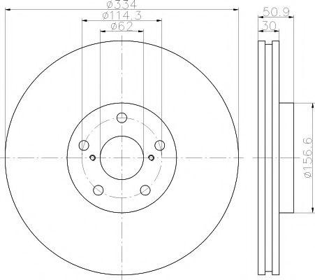 TEXTAR  Тормозной диск пер. лев. Lexus GS 05- TEXTAR 92147800
