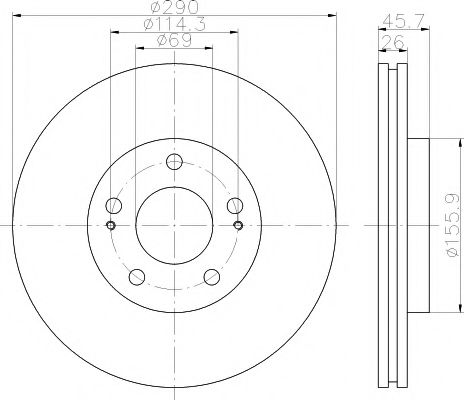 92148300 Тормозной диск TEXTAR PRO TEXTAR 92148303