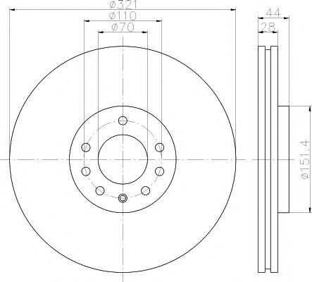 Тормозной диск TEXTAR 92149803