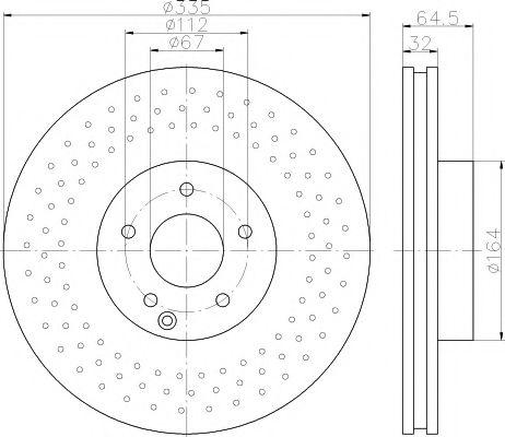 TEXTAR DB Диск тормозной передн. W221 TEXTAR 92171903