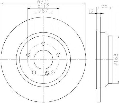 TEXTAR DB Тормозной диск зад. S221 TEXTAR 92176503