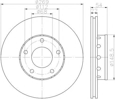 Тормозной диск TEXTAR 92176803