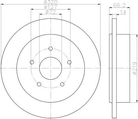 TEXTAR  Диск тормозной Grand Cherokee 3.0 CRD 06- TEXTAR 92177403