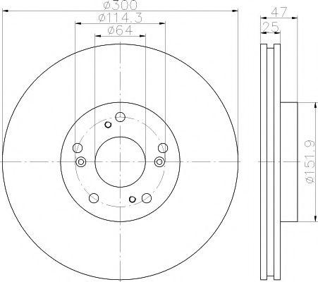TEXTAR HONDA Тормозной диск пер. CR-V -06 TEXTAR 92177903