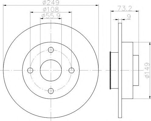 Тормозной диск TEXTAR 92194103