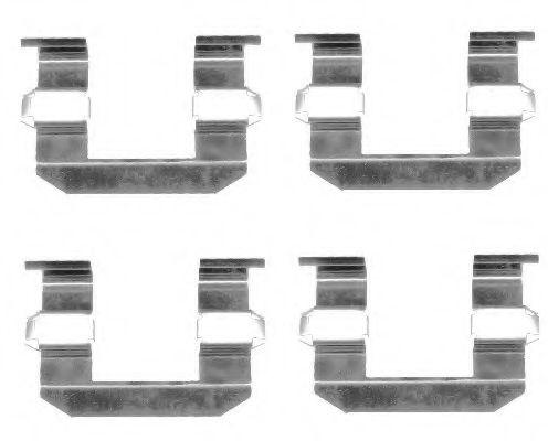 Комплектующие, колодки дискового тормоза  арт. 82072100