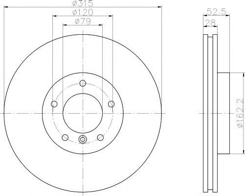 Тормозной диск TEXTAR 92071103