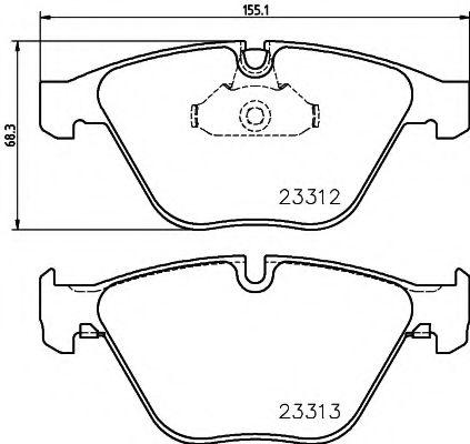 TEXTAR BMW Тормозные колодки дисковые E60/E65 TEXTAR 2331211