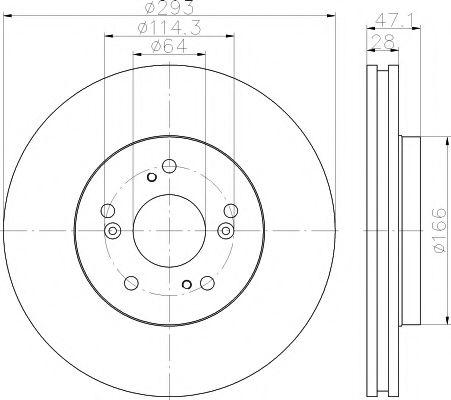 Тормозной диск TEXTAR PRO  арт. 92184803