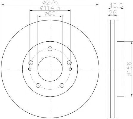 Тормозной диск TEXTAR 92198203