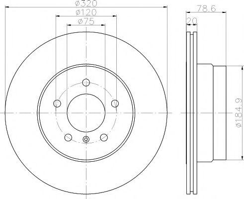 TEXTAR  Диск тормозной задний BMW X5 E70 X6 E71 TEXTAR 92161103