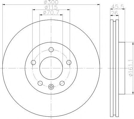 Тормозной диск  арт. 92205603