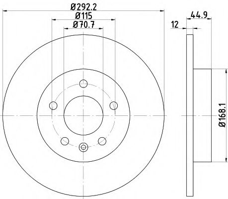 Тормозной диск  арт. 92205703