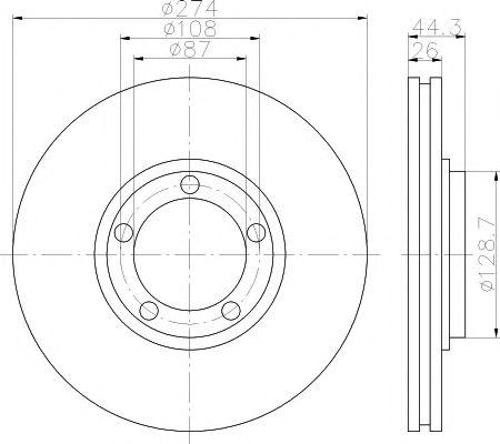 Тормозной диск  арт. 92221800