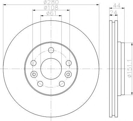 TEXTAR  диск тормозной пер. Renault Kangoo 08- TEXTAR 92202400