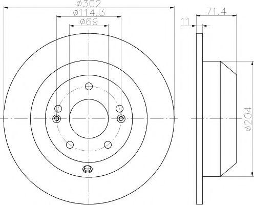 Тормозной диск TEXTAR 92223403