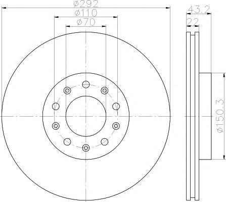 Тормозной диск  арт. 92221103