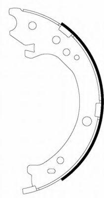 Комплект тормозных колодок, стояночная тормозная система  арт. 91072300