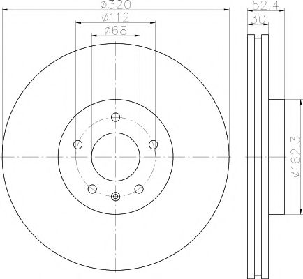Тормозной диск TEXTAR 92229303