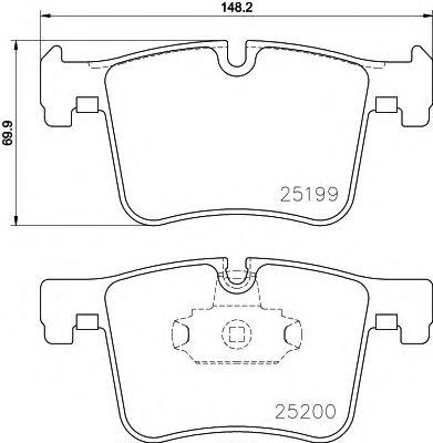 Тормозные колодки дисковые TEXTAR  арт. 2519901