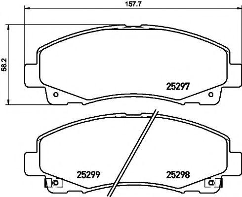 Комплект тормозных колодок, дисковый тормоз  арт. 2529701