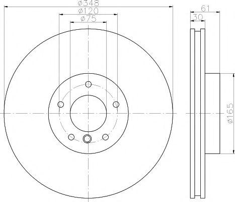 Фото - Тормозной диск TEXTAR TEXTAR - 92160905