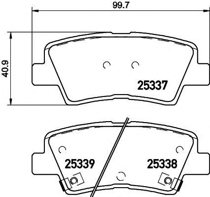 Тормозные колодки дисковые TEXTAR  арт. 2533701