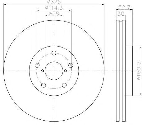 Фото - Тормозной диск TEXTAR - 92194303
