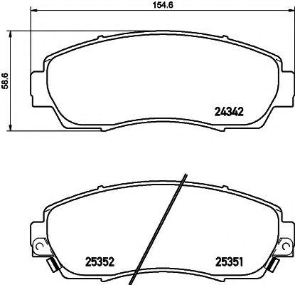 Тормозные колодки дисковые TEXTAR  арт. 2434201