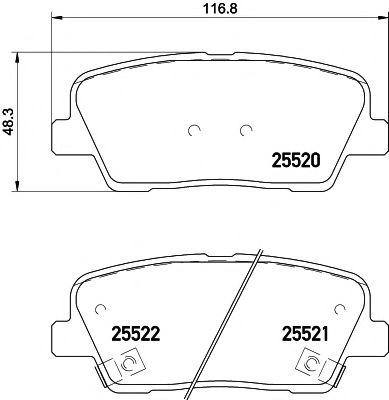 Тормозные колодки дисковые TEXTAR  арт. 2552001